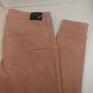 NWOT American Eagle Pink 360 Super Stretch Jeans 6